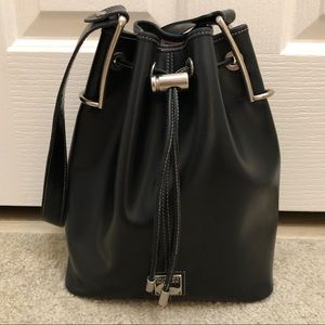 Vintage Dooney & Bourke Black Leather Hobo